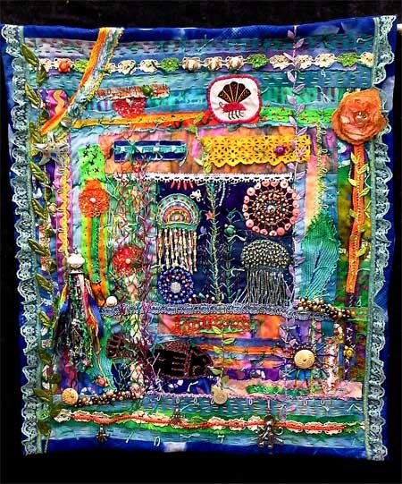 Under the Sea art quilt by Linda Morgan