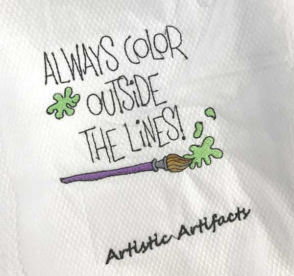 Always color outside the lines -- machine embroidery by Denise Reuter