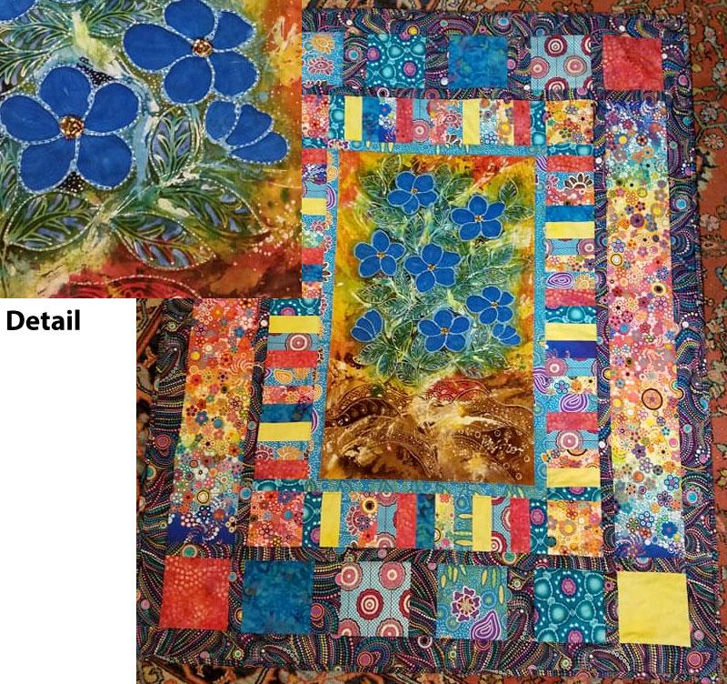 Batik panel quilt by Marie Sepe