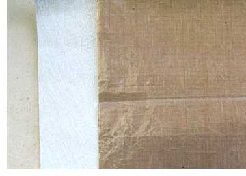 Mistyfuse layered onto Multi-Purpose cloth and covered with a non-stick craft sheet