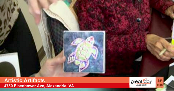 Click to watch a discussion of, and examples of, mixed media and upcycled art