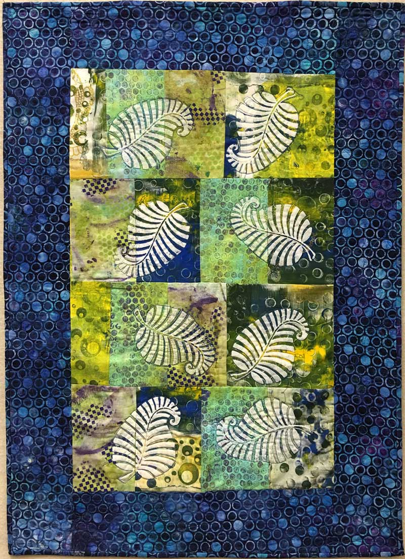 Art quilt created in collaboration: Judy Gula of Artistic Artifacts, Liz Kettle of Textile Evolution and Jamie Malden of Coloricious