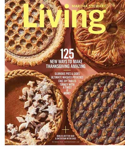 cover of Martha Stewart Living, November 2016