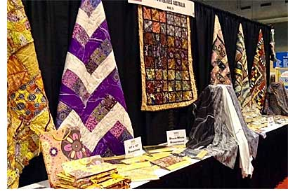 The M&S Textiles Booth at Spring Quilt Market