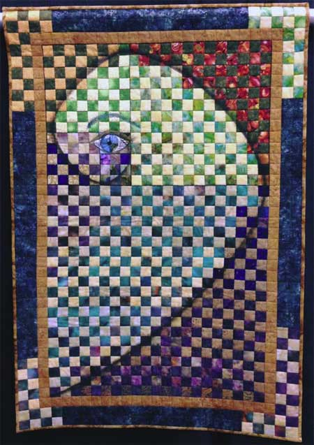 Nancy Hershberger quilt displayed at MAQF