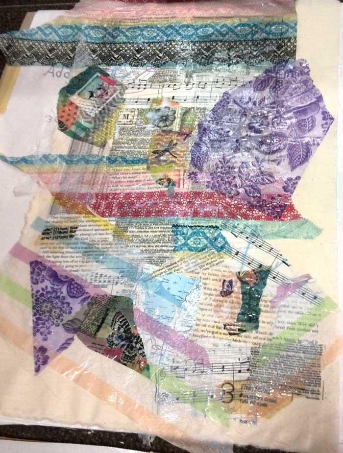 Sharon McDonagh's paper cloth base drying
