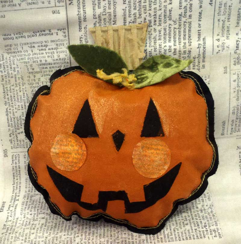 Mixed Media pumpkin created by Sharon McDonagh