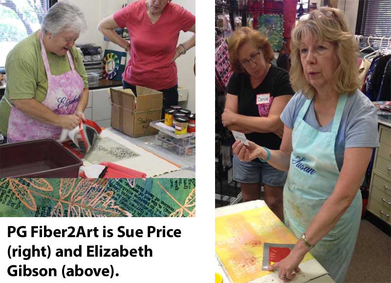 Sue Price and Elizabeth Gibson of PG Fiber2Art