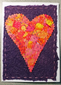 Stitched Pinked Heart Card