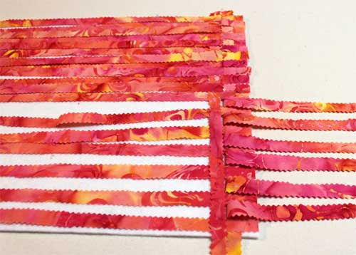 Woven fabric, warp and weft