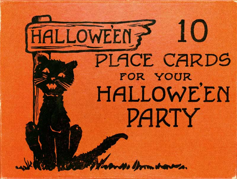 Vintage Halloween Placecards box top from Judy Gula of Artistic Artifacts