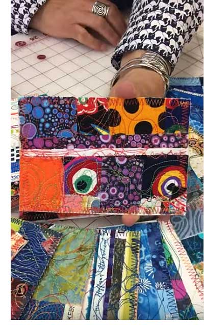 Fabric postcard by Judy Gula of Artistic Artifacts