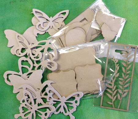 Chipboard embellishments available at Artistic Artifacts