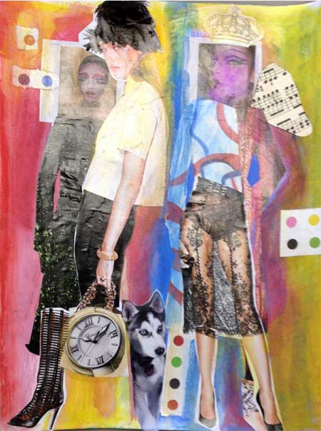 Art journal page by Judy Gula