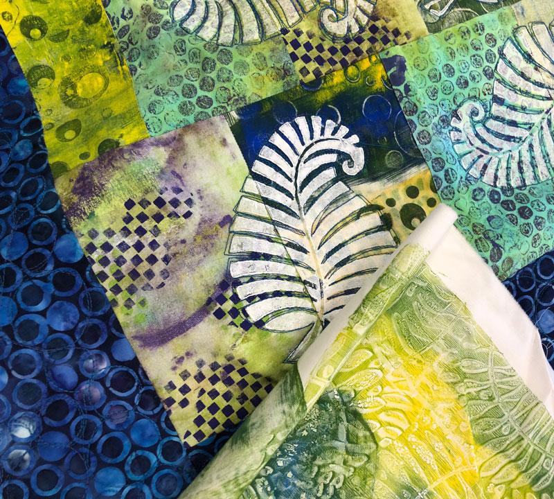 Monoprinted fabrics