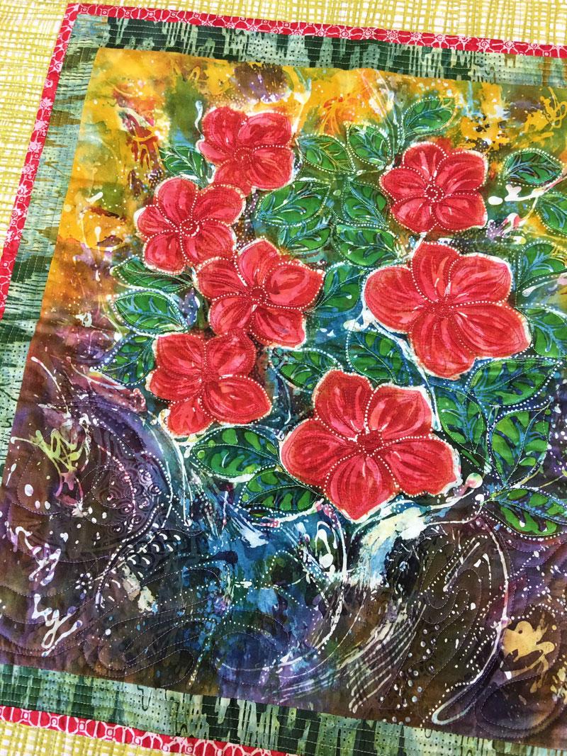 Hari Agung batik panel quilt by Judy Gula