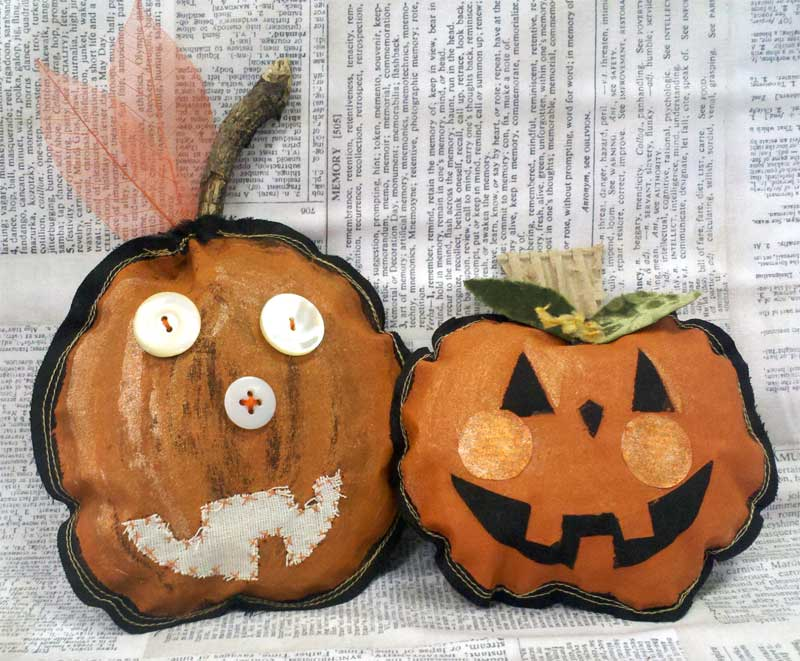 Mixed Media Pumpkins by Artistic Artifacts using Rusty Paper and Rusty Patina