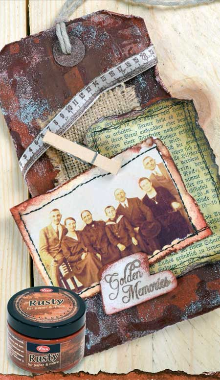 Vintage look tag collage by Viva Decor