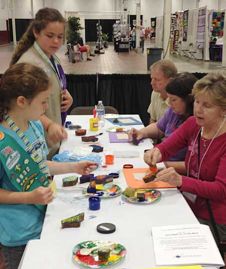 All ages enjoyed the Fun with Fabric project