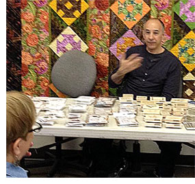 Mixed media artist, instructor and author Seth Apter joined Artistic Artifacts for its monthly JAMs meeting