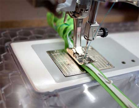 sewing elastic to seam tape