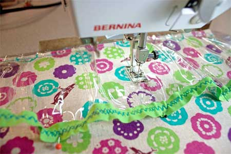 sewing up the pockets