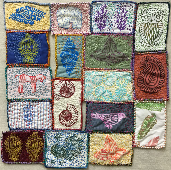 Slow Stitch Outsider Art Quilt
