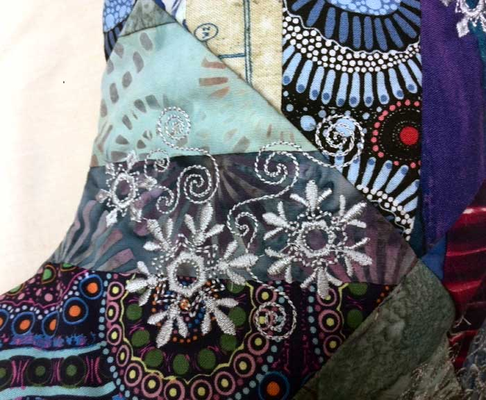 Detail, Denise Reuter's completed holiday stocking