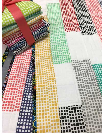 Some of the colors of the Squared Elements line by Art Gallery Fabrics