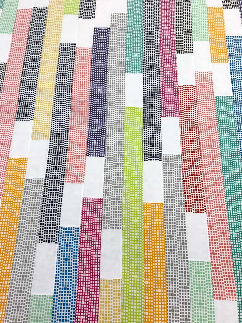 Squared Elements modern quilt by Christine Vinh of StitchesnQuilts in progress