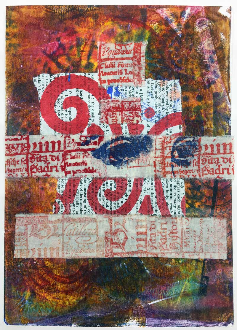 Mixed media greeting card created by Judy Gula of Artistic Artifacts