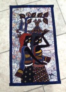 Hand Drawn Batik Panel by artist Jaka