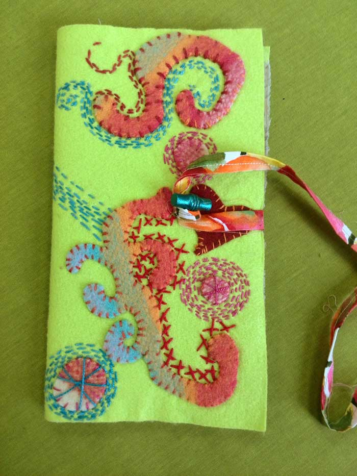 Hand Stitched Mixed Media Journal Cover