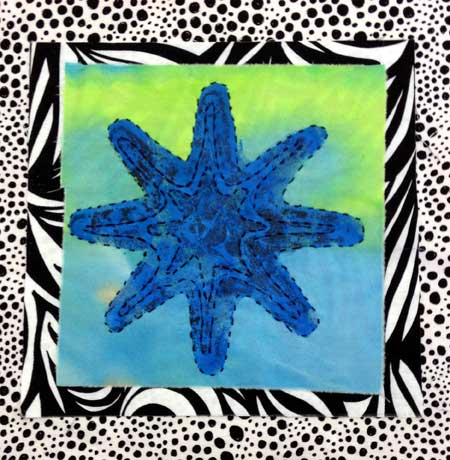 Stitched Starfish by Judy Gula in progress