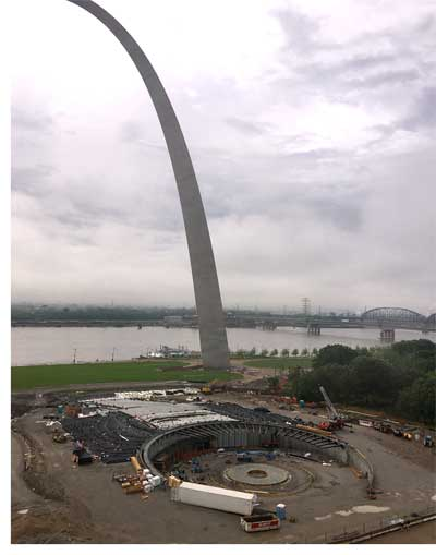 View of Gateway Arch from hotel