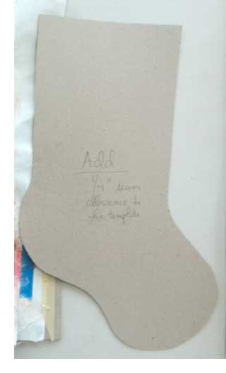 The Artistic Artifacts holiday stocking template