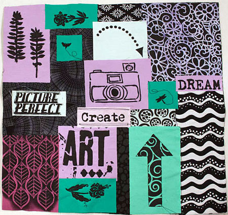 Student work, Rebel Quilting at Art & Soul in Portland, OR