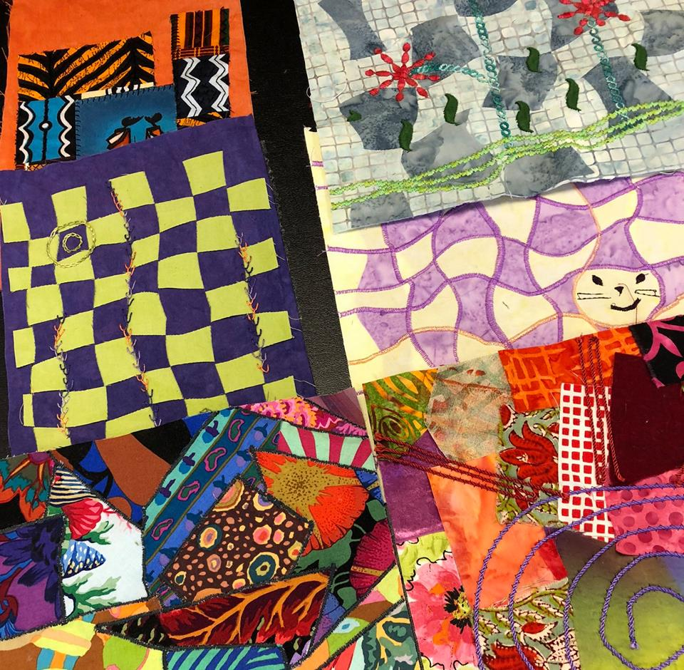 More student work from Judy Gula's Fabric Embellishing class
