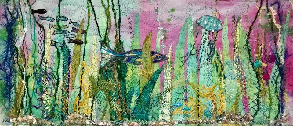 Susan Callahan fish quilt