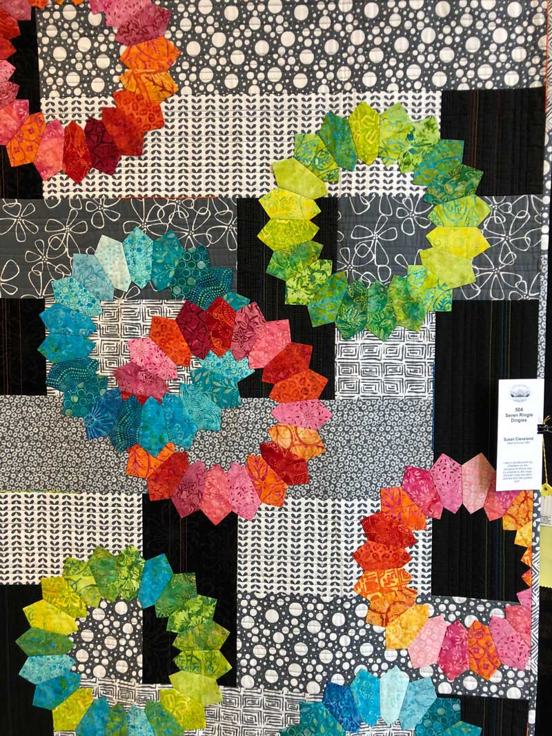 """Susan Cleveland quilt """"Seven Ringie Dingies"""""""