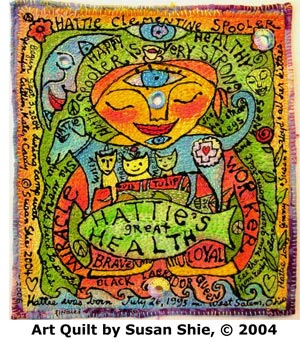 """Art quilt by Susan """"Lucky"""" Shie"""