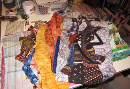 Fabrics Selected for Strip Piecing