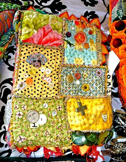 Fabric journal by Teesha Moore