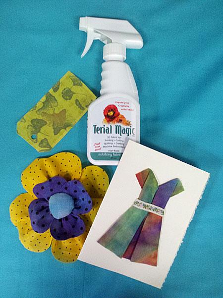 Examples of fabric art created using Terial Magic