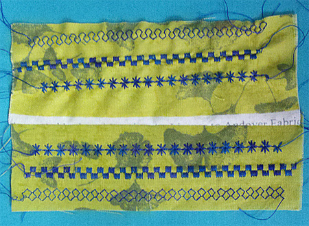 Terial Magic treated fabric is easy to stitch, and idea for use with machine embroidery or specialty stitches