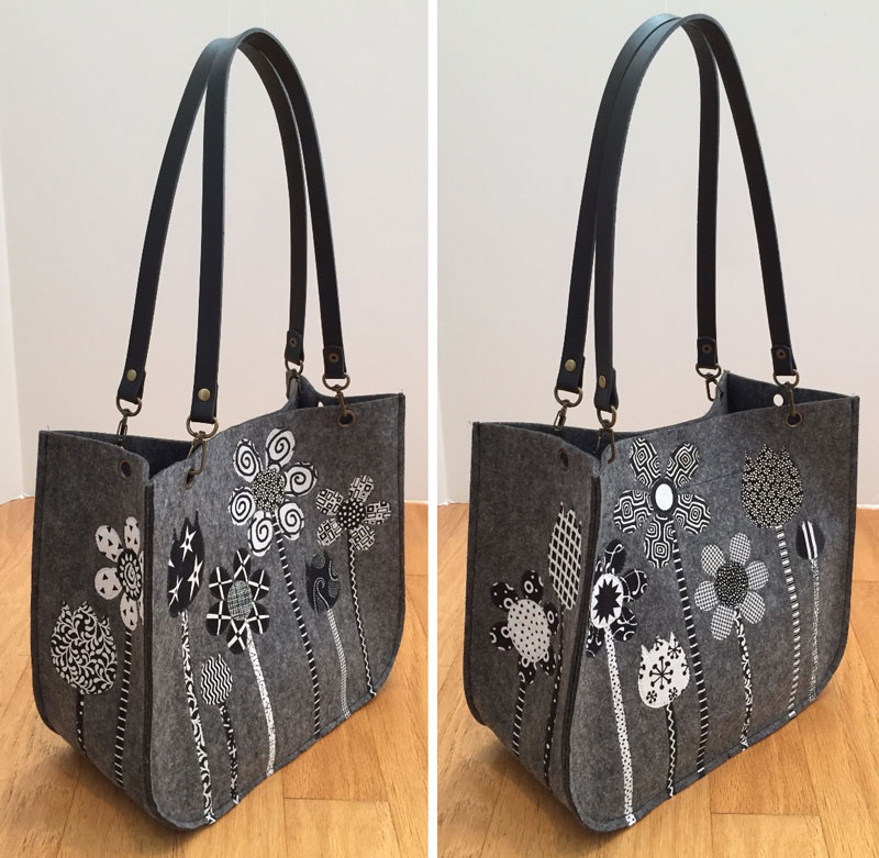 Beautiful Grace Tote customized by art quilter Tina Curran
