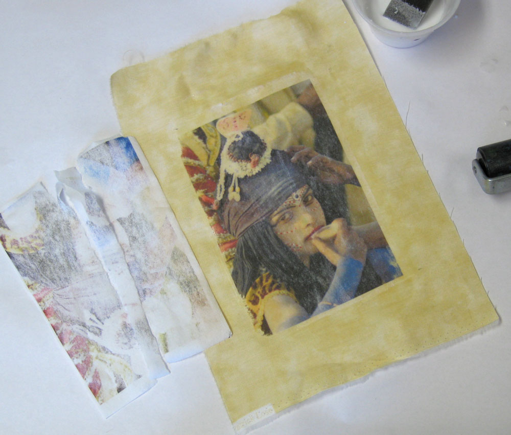 Step 5, Image Transfer with Water Soluble Paper