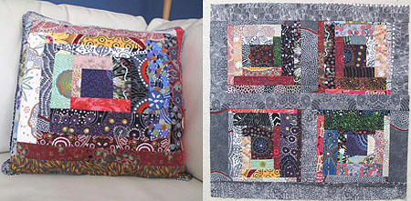 Finished pillow and setting for another