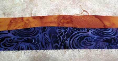 Free-form strips seamed together