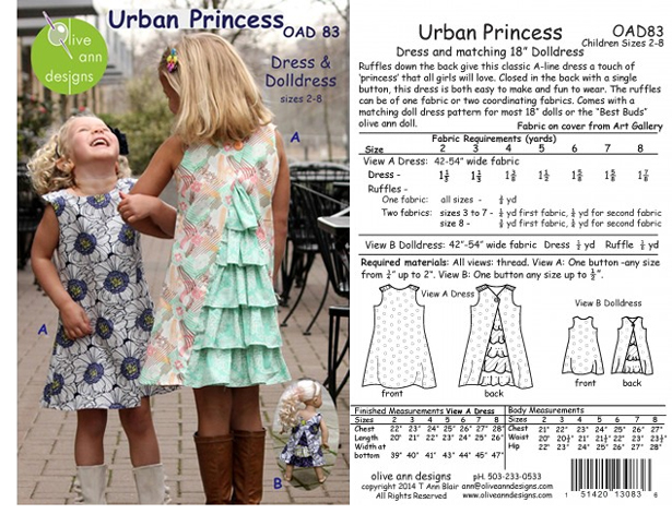 The Urban Princess pattern by Olive Ann Designs